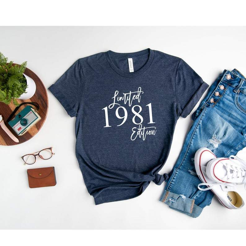 1981 Limited Edition, Birthday Gifts Idea, Gift For Her For Him Unisex T-Shirt KM0804