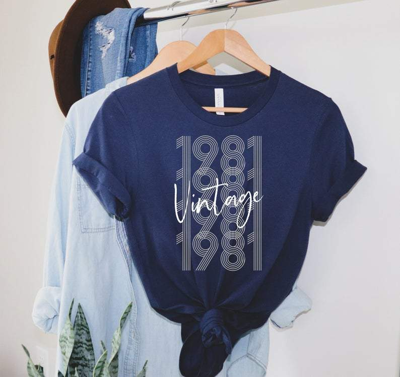 1981 Vintage, Birthday Gifts Idea, Gift For Her For Him Unisex T-Shirt KM0804