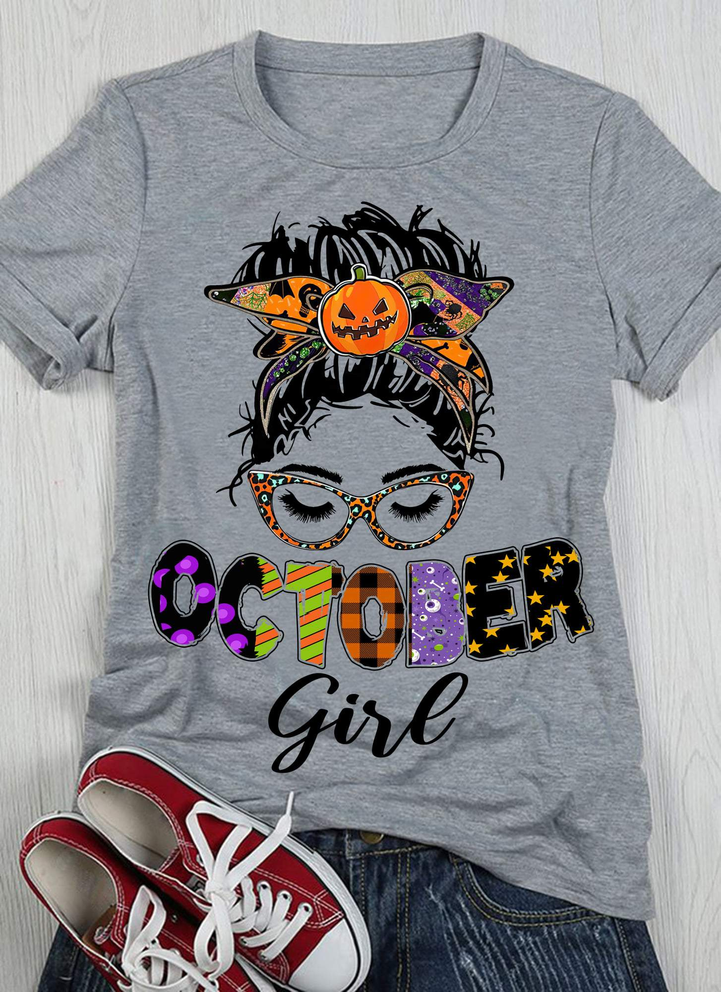Birthday Shirt, Gift For October Girl, Birthday Shirts For Women, Halloween October Girl T-Shirt