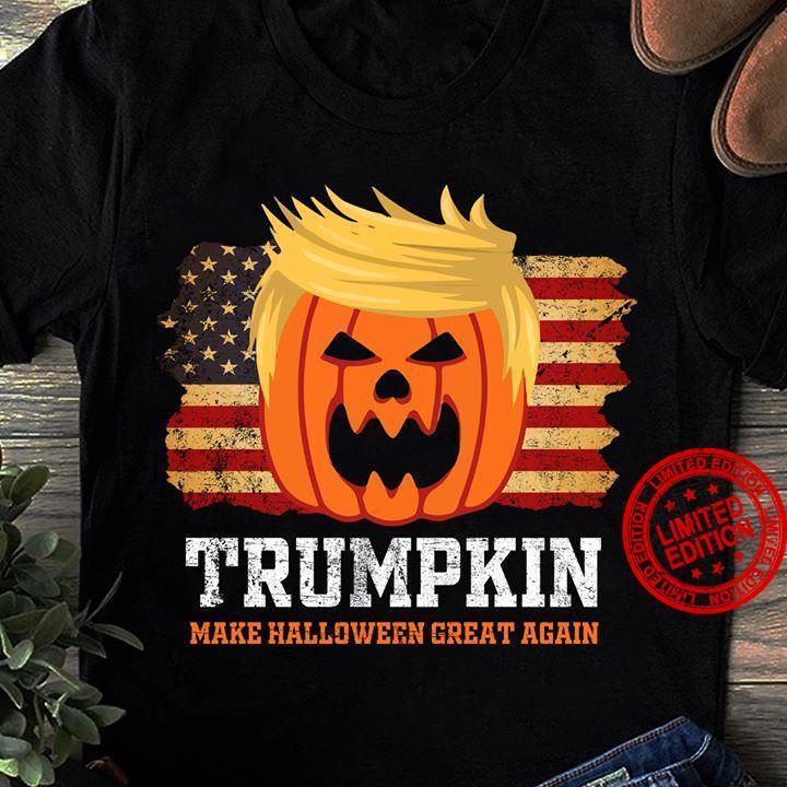 Funny Halloween Shirt, Gift For Halloween, Trumpkin Make Halloween Great Again T-Shirt