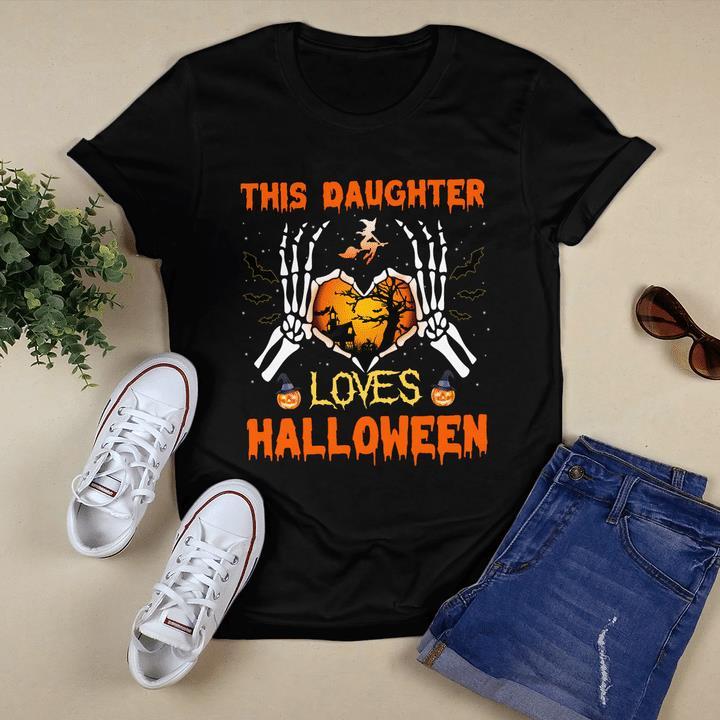 Halloween Shirt, Halloween Gift Idea, This Daughter Loves Halloween T-Shirt KM0609