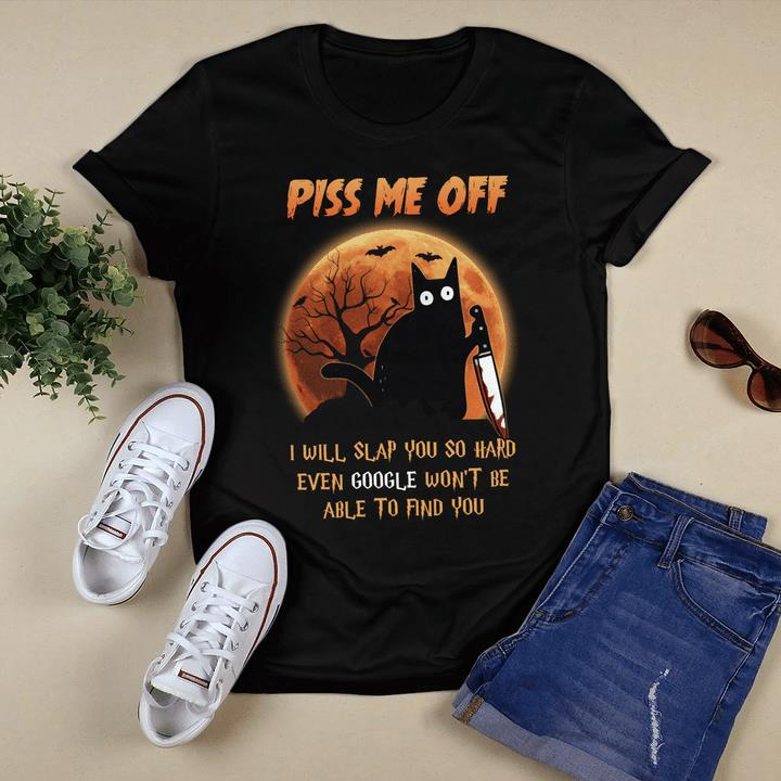 Halloween Shirt, Piss Me Off I Will Slap You So Hard Halloween T-Shirt KM2408