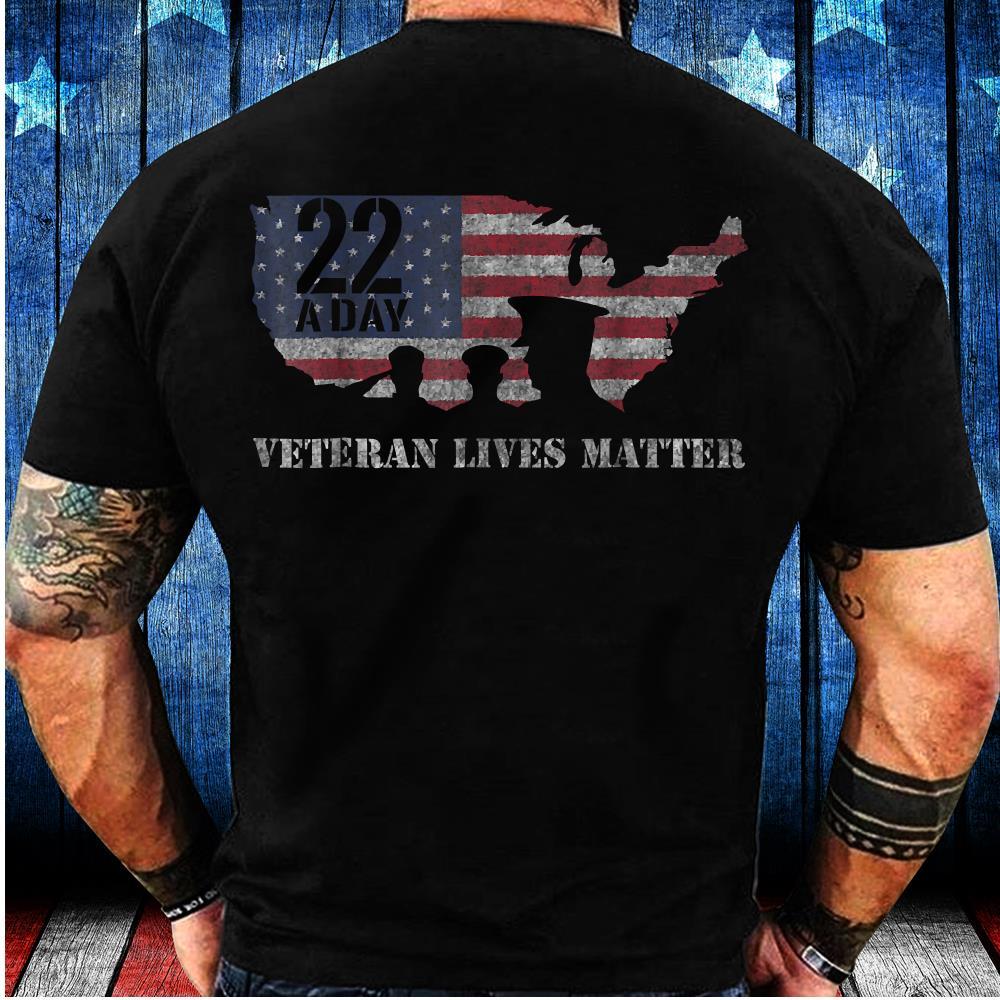 22 A Day Veteran Lives Matter Suicide Awareness T-Shirt