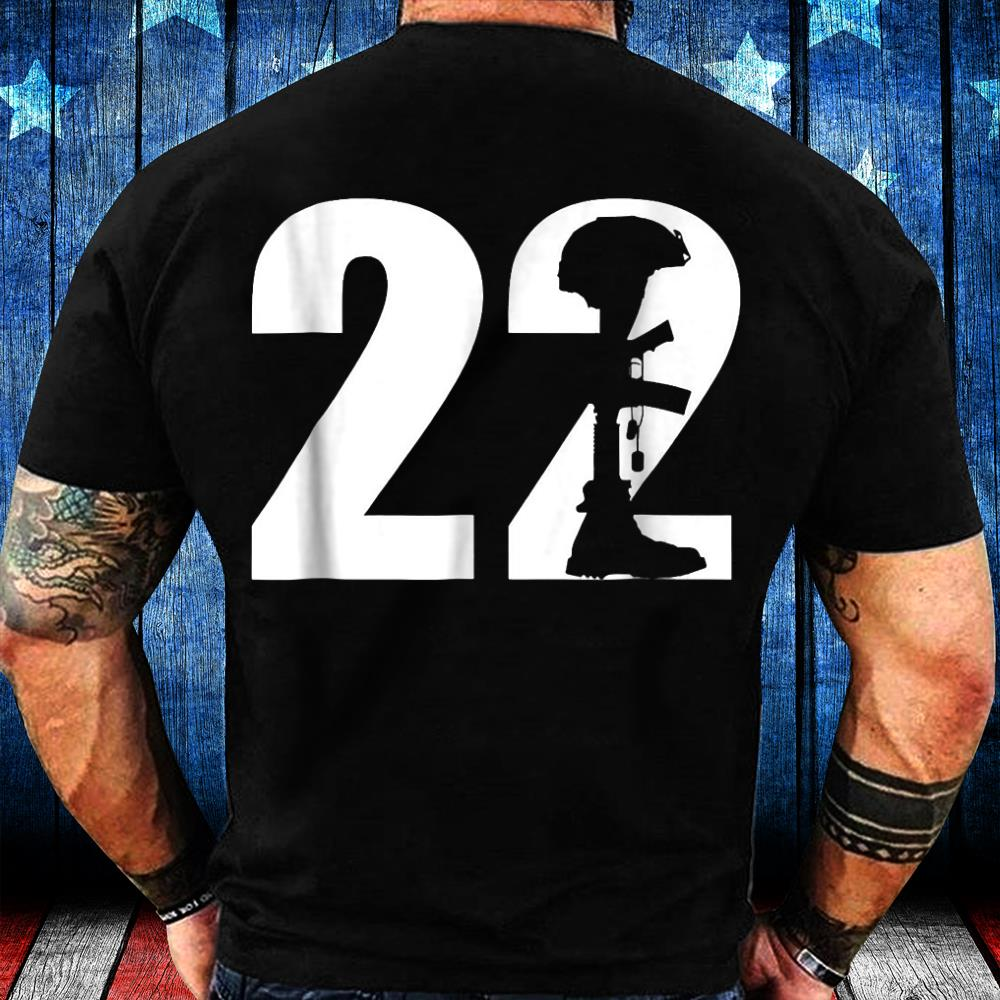 22 Too Many PTSD Awareness T-shirt Veterans