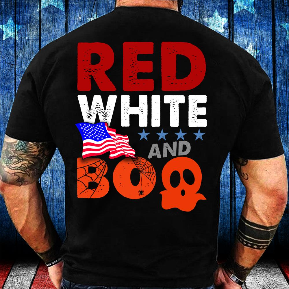 Red White And Boo, Great Gift For Halloween T-Shirt