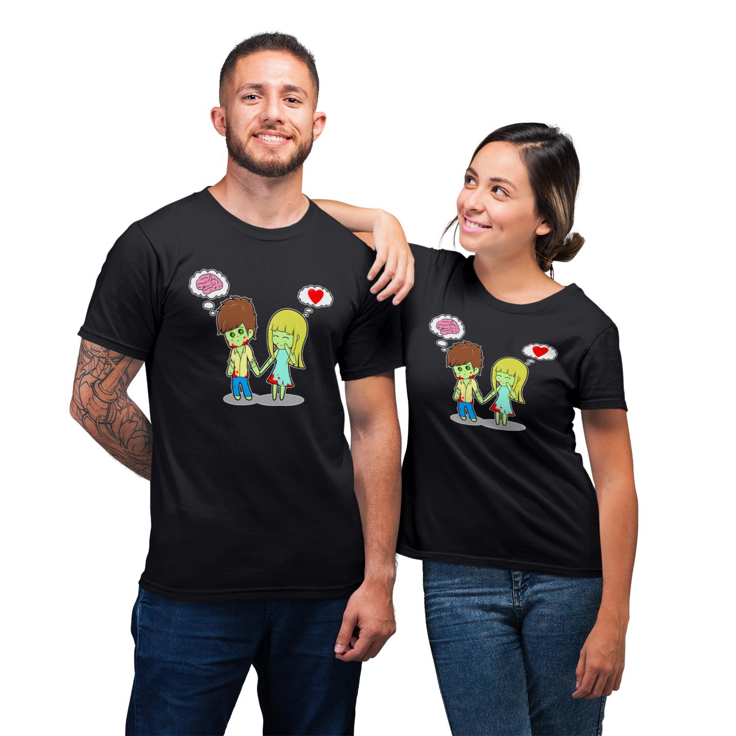 Adorable Zombie For Matching Couple T-Shirt