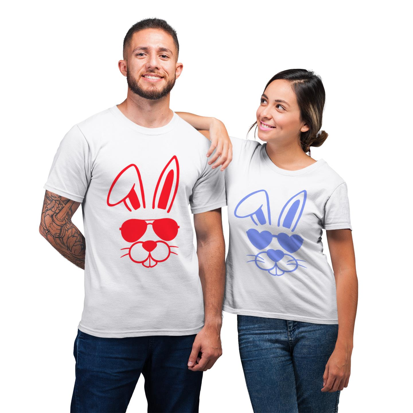 Playboy Playgirl His And Her Shirt For Couples Lover Matching T-shirt