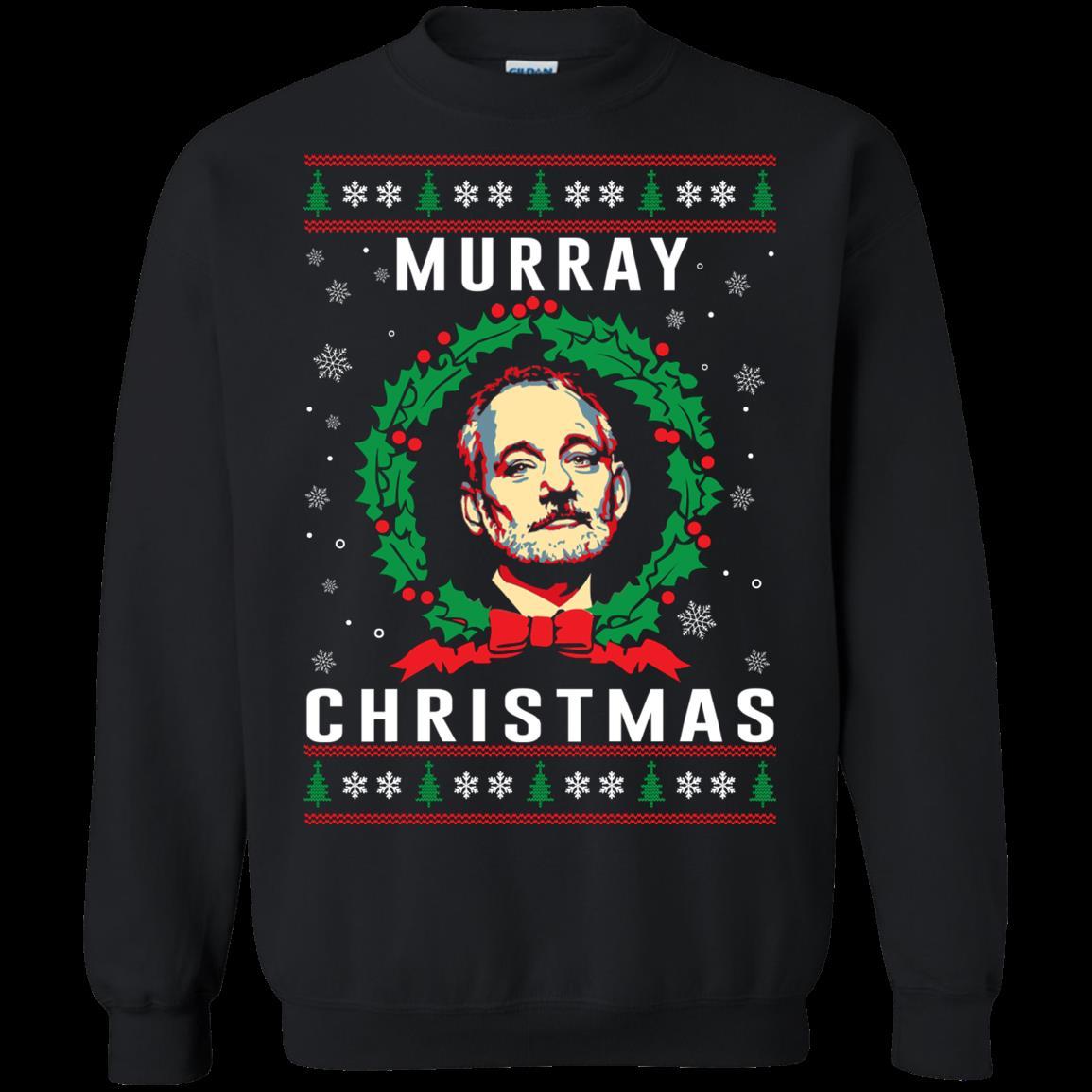 A Very Murray Christmas Ugly Christmas Sweater Murray Christmas T Shirt Hoodies Sweatshirt