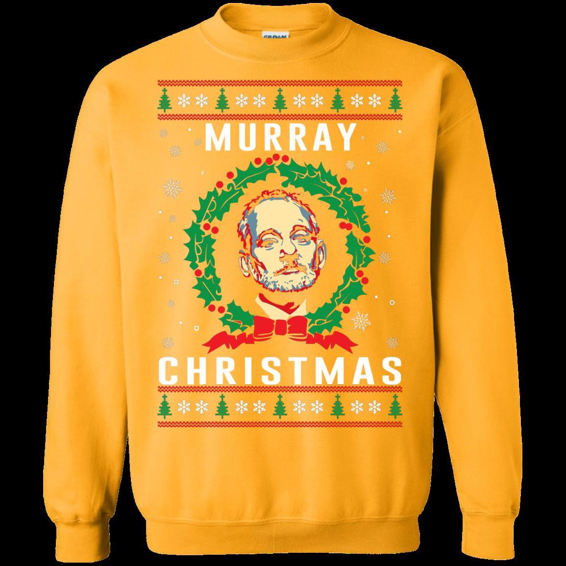 A Very Murray Christmas Ugly Christmas Sweater Murray Christmas T Shirt Hoodies Sweatshirt 1