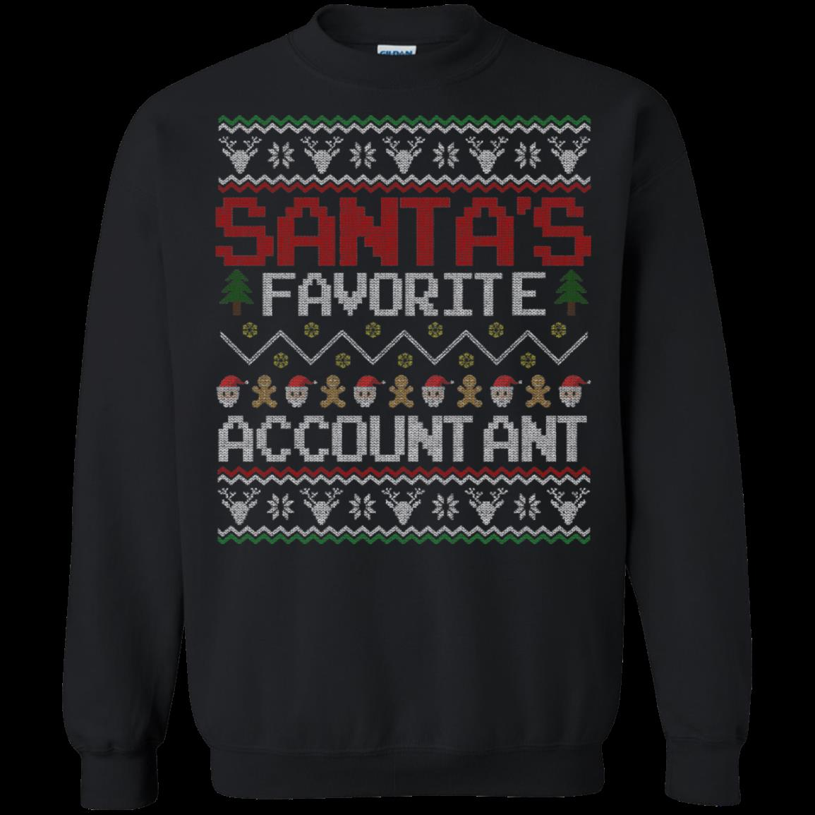 Accountant Christmas Ugly Sweater Shirts Santa Favorite T Shirt Hoodies Sweatshirt