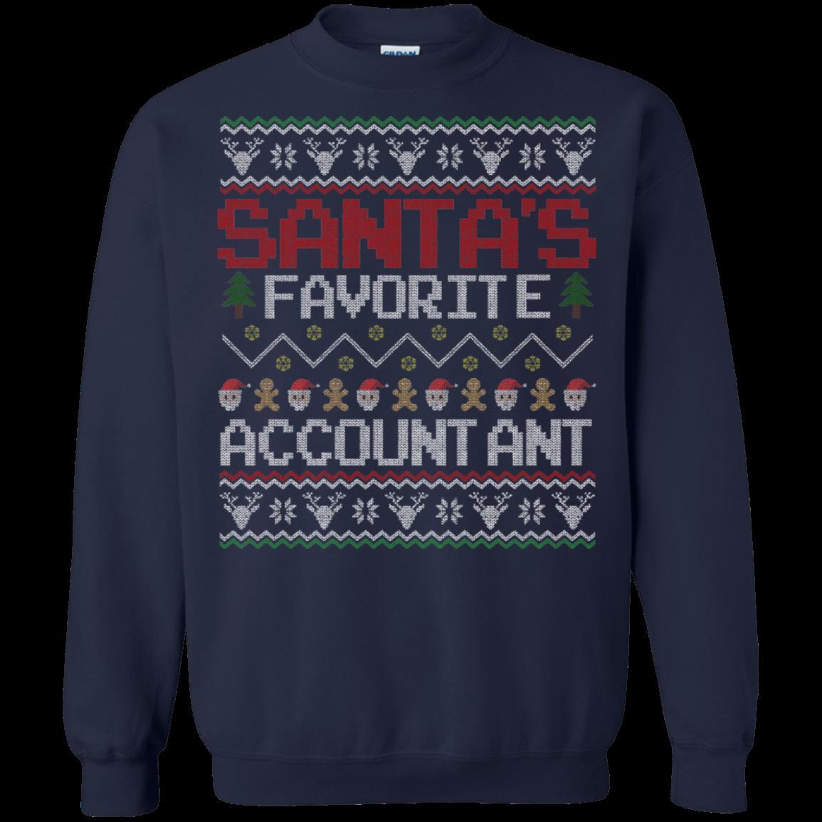 Accountant Christmas Ugly Sweater Shirts Santa Favorite T Shirt Hoodies Sweatshirt 1