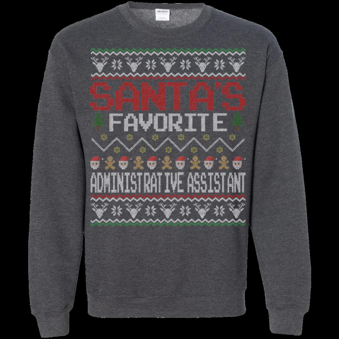 Administrative Assistant Christmas Ugly Sweater Shirts Santa Favorite 1