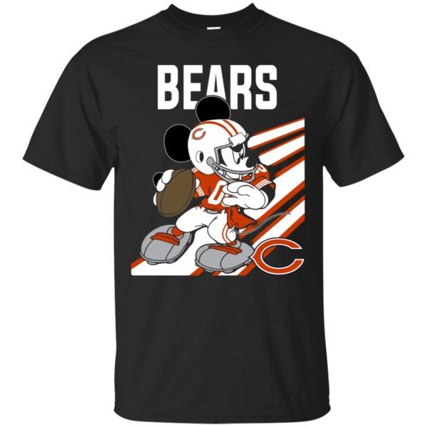 Chicago Bears Mickey Mouse Disney Nfl Shirt Cotton Shirt