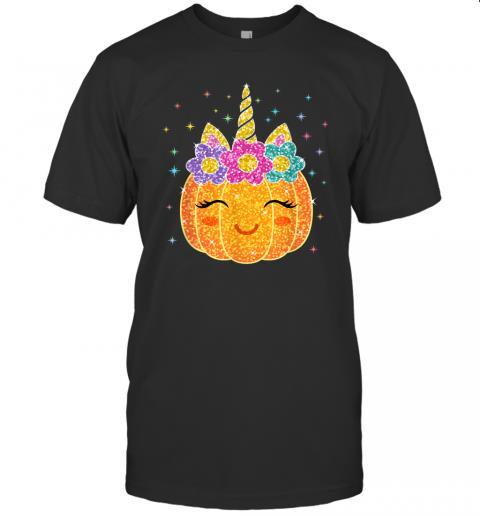 Cute Unicorn Pumpkin Halloween Thanksgiving T Shirt 1
